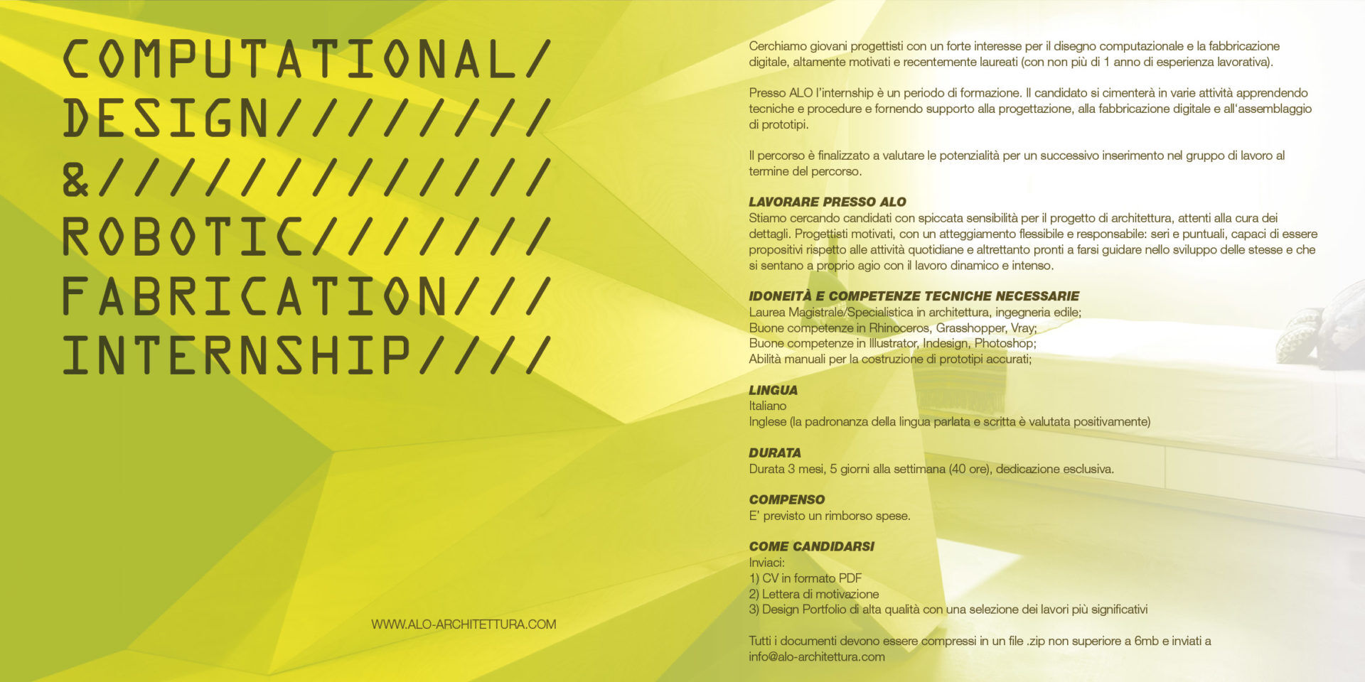Studio Di Architettura In Inglese computational design & robotic fabrication internship